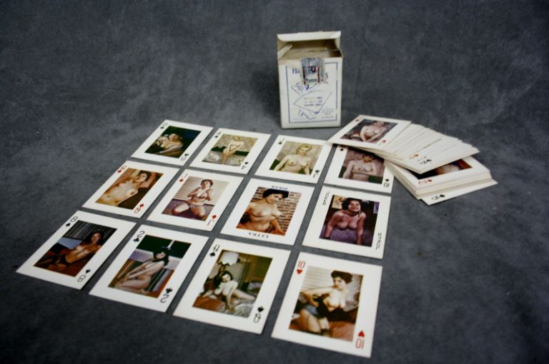 """Beautiful Girls on Pocket-Size Playing Cards"": A set of 50's..."