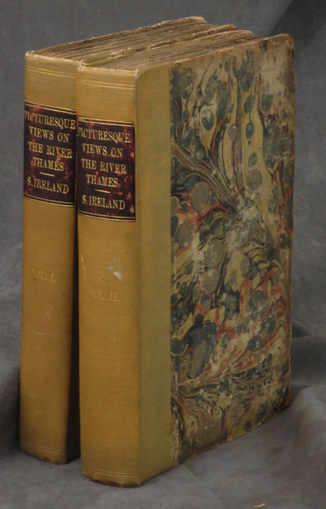 Picturesque Views on the River Thames from its Source in Glocestershire sic to the Nore; with Observations on The Public Buildings and other Works of Art in its Vicinity. In Two Volumes. Samuel Ireland.