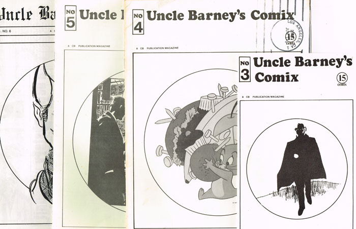 Issues 3-6 of Uncle Barney's Comix