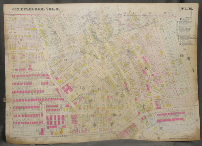 Plat Map of Pittsburgh, Including Part of Homewood. Pittsburgh Map, Homewood.
