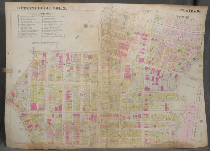 Plat Map of Pittsburgh, Including Part of Larimer. Pittsburgh Map, Larimer.