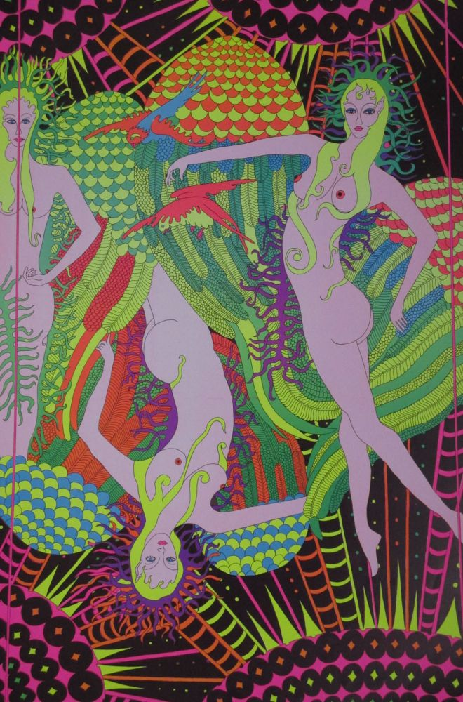 """""""Moon Girls"""" Psychedelic Poster"""
