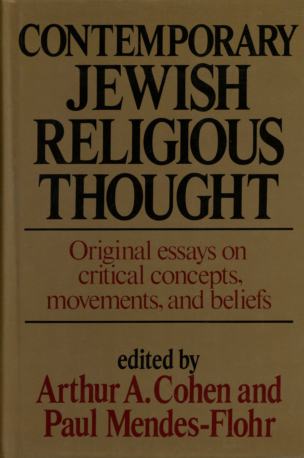 contemporary jewish religious thought original essays on critical  new