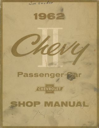 1962 Chevrolet Chevy II Shop Manual