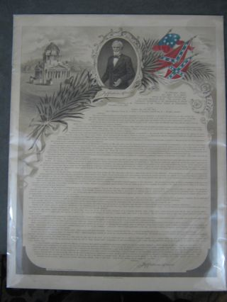 Broadside of Jefferson Davis' last paper of a public nature...