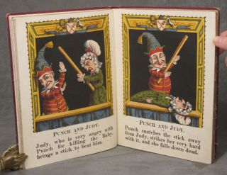 Mounted Picture Toy Book, comprising: Punch and Judy, The Pilgrim's...