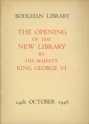 The Opening of the New Library by His Majesty King...