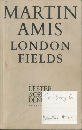 London Fields, inscribed review copy