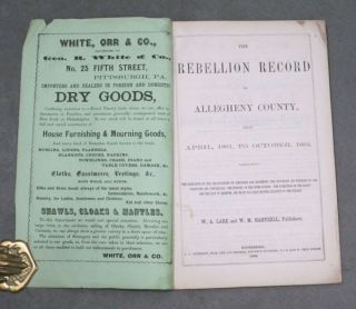The Rebellion Record of Allegheny County, from April 1861 to...