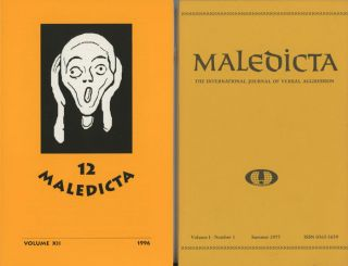Maledicta: The International Journal of Verbal Aggression, consecutive run of...