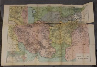 War Map of Afghanistan, showing the Indian and Russian Frontiers and Adjoining Countries, also enlarged map of Khyber Pass and Full Description of the Country