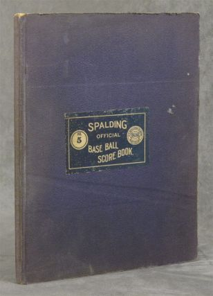 Spalding's Official Base Ball (Baseball) Score Book, Number 5 with...