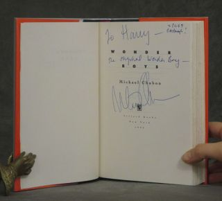 Group of 6 books by Michael Chabon inscribed to his...