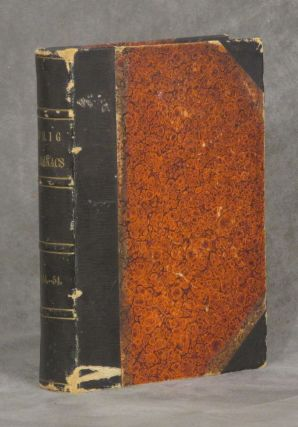The Whig Almanac, bound volume containing 1844, 1845, 1850, 1851, 1852, 1853, 1854