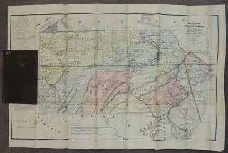 Historical Map of Pennsylvania, showing the Indian Names of Streams and Villages and Paths of Travel; The Sites of Old Forts and Battle-Fields; The Successive Purchases from the Indians and the Names and Dates of Counties and County Towns