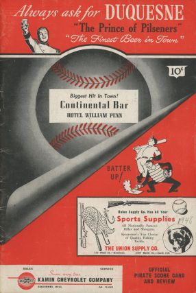 Pittsburgh Pirates vs. Chicago Cubs -- program for regular season game, 1948. Chicago Cubs...