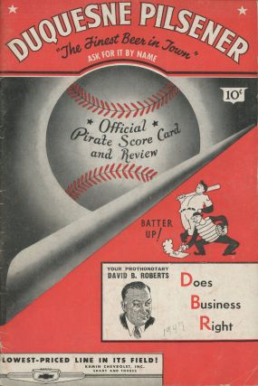 Pittsburgh Pirates vs. Cincinnati Reds -- program for regular season game, 1947. Cincinnati Reds...