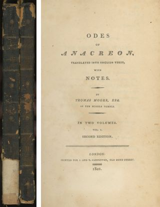 Odes of Anacreon, translated into English Verse, with Notes by...