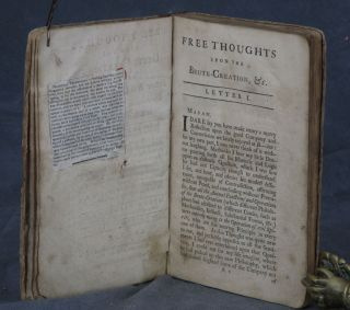 Free Thoughts upon the Brute-Creation: wherein Father Bougeant's Philosophical Amusement, &c. is Examined in Two Letters to a Lady... the third edition