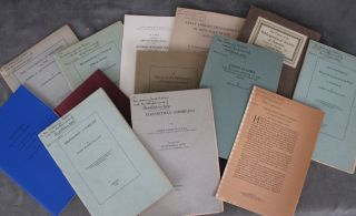 13 publications on bibliographical subjects, all but three inscribed by...