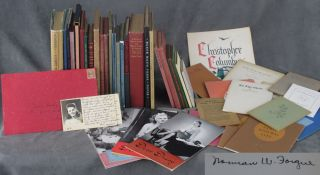 Collection of 46 Books and Ephemera from Norman Forgue of...