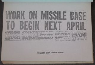 The United States Air Force Ballistic Missile Program as Related to Francis E. Warren Air Force Base 1955 through 1958