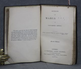 Memoir of Maria ---, a Converted Jewess