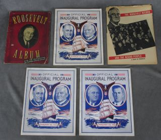 Lot of Franklin Delano Roosevelt and political material, 20 items: including a TLS from FDR in 1939, programs from all three of his inaugurations, and various White House and Capitol Hill ephemera