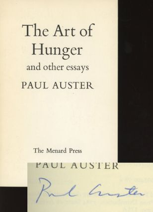 The Art of Hunger and Other Essays