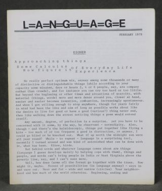 L=a=n=g=u=a=g=e (Language) -- complete run of 12 issues plus 3 supplements, table of contents issue and Volume 4