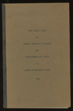 The Colby Club, with Supplementary Note