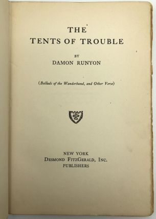 The Tents of Trouble (Ballads of the Wanderbund, and Other Verse)