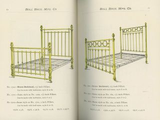 Boll Bros. Mfg. Co. : Brass and Iron Bedsteads, Mattresses, Bed Spring, Cots, Chairs, Pillows, Bolsters, Etc. Catalogue D