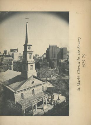 St. Mark's Church In-the-Bowery, 1975-76 (signed by Ginsberg and Ferlinghetti)