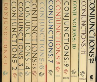 Conjunctions, the first 12 issues, including issue 1 inscribed by Bradford Morrow, James...