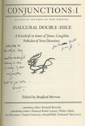Conjunctions, the first 12 issues, including issue 1 inscribed by Bradford Morrow, James Laughlin, Richard Howard and J. M. Edelstein