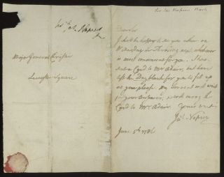 Autograph Letter Signed, Dated June 5, 1786 (ALS)