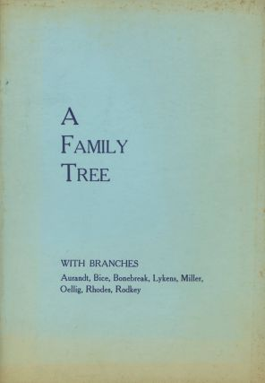 A Family Tree, with branches: Dates, names and data about...