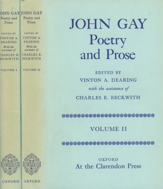 John Gay: Poetry and Prose, 2 vols.; Edited by Vinton...