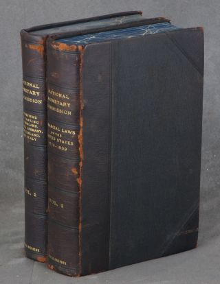 20 volumes of National Monetary Commission Publications (1911) on Banking: 1. Interviews on Banking in England, France, Germany, Switzerland, and Italy; 2. Financial Laws of the United States 1778-1909; 3. Digest of State Banking Statutes; 4. Banking in the United States Before Civil War; 5. The National Banking System; 6. Clearing Houses and Credit Instruments; 7. State Banks, Trust Companies and Independent Treasury System; 8. The English Banking System; 9. Banking in Canada; 10. The Reichsbank and Renewal of its Charter; 11. Articles on German Banking and German Banking Laws; 12 & 13. The German Bank Inquiry of 1908, Part I & II; 14. The Great German Banks; 15. Banking in France and the French Bourse; 16. Banking in Belgium and Mexico; 17. Banking in Sweden and Switzerland; 18. Banking in Italy, Russia, Austro-Hungary, and Japan; 19. Administrative Features of National Banking Laws and European Fiscal and Postal Savings Systems; 20. Miscellaneous Articles: Address by Senator Aldrich, Discount System in Europe, Bank Acceptance, Credit of Nations, Trade Balance of the United States, Bank Loans and Stock Exchange Speculation