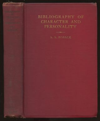 A Bibliography of Character and Personality