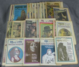 Complete run of Rolling Stone magazine from 1973--26 issues total...