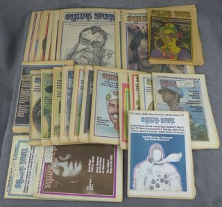 Near complete run of Rolling Stone magazine from 1973--24 issues...