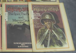 Complete run of Rolling Stone magazine from 1974--26 issues total (nos. 151-176)