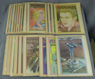 Near complete run of Rolling Stone magazine from 1974--22 issues total (missing nos. 153, 154,...