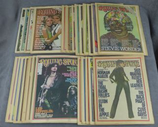 Complete run of Rolling Stone magazine from 1975--26 issues total (nos. 177-202). Jann Wenner,...