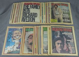 Incomplete run of Rolling Stone magazine from 1976--23 issues total...