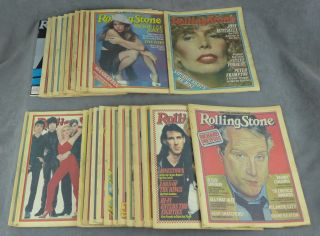 Near complete run of Rolling Stone magazine from 1979 (25...