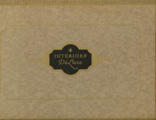 Interiors de Luxe: Illustrated with Twenty Original Designs by Leaders in the Art of Home...