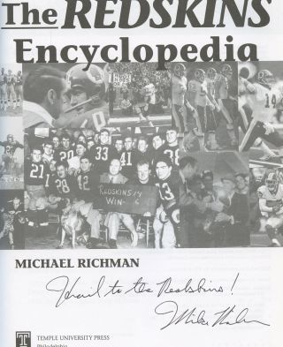 The Redskins Encyclopedia [Inscribed by Richman]